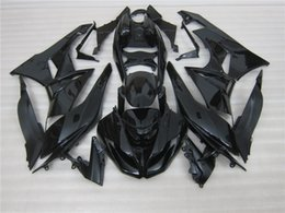 Wholesale Kawasaki 636 Fairings Set - Free gifts New Motorcycle Fairing kits 100% Fit for KAWASAKI Ninja ZX6R 636 2009 2010 2011 2012 09 10 11 12 6R Bodywork set All black glossy