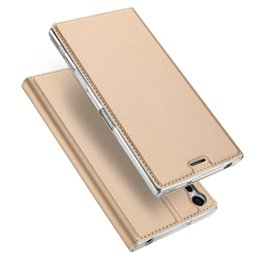 Wholesale Black Magic Wallet - DUX DUCIS Flip Wallet Case for Sony Xperia XZ Permuim XA1 Ultra Pixel Google Pixel XL HuaWei MediaPad M3 Honor8 Magic Leather Case