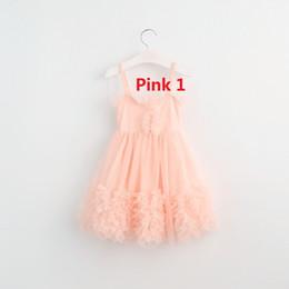 Wholesale Dress Tutu Baby Lace Black - Kids Girls Tulle Lace dresses 2017 Christmas Ruffle tutu dress lovely baby princess dress children's babies clothing
