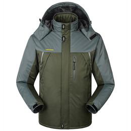 Бархатные куртки xxxl онлайн-2017 мужская хлопок плюс бархат согреться ветрозащитный водонепроницаемый модное пальто мужская зимняя куртка XXXL вниз парки