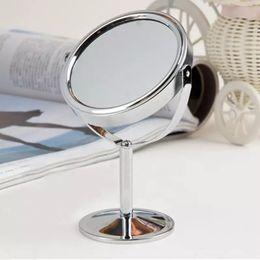 mesas laterais espelhadas atacado Desconto Atacado mais recente luxurly Maquiagem Cosméticos Dupla Face espelho Normal e 2 Lupa Espelho de Mesa Senhora Espelho De Pé de Mesa
