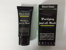 Wholesale Black Mud - 2017 Black Suction Mask Anti-Aging 50ml SHILLS Deep Cleansing Purifying Peel Off Black Face Mask Remove Blackhead Peel Masks