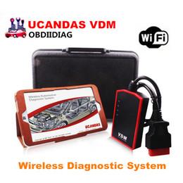 Wholesale Original Scanner - Original VDM UCANDAS V3.9 WIFI Auto Diagnostic Scanner with WIN10 Tablet Wireless Automotive Diagnostic System
