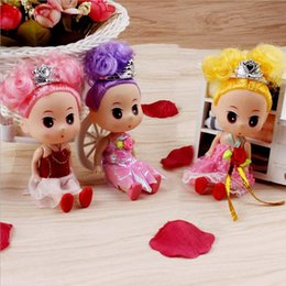 Wholesale Glue Doll - Korean version of the 15cm doll wedding dolls vinyl glue toys baby doll creative children's toys wholesale