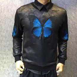 Wholesale Fresh Hoodies - Wholesale- 2017 Harajuku Fresh Prince Sweat Suits Butterfly Leather Mens Hoodies And Sweatshirts 3D Printed Hoodies Men Tupac Sweatshirt