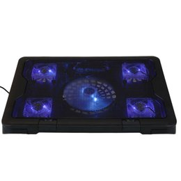"""Wholesale Fan Cooler 17 - Wholesale- Portable Slim 5 Fans Notebook Cooling Pad Cooler For Up To 17"""" Laptop PC"""