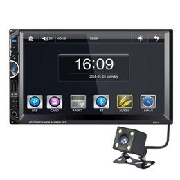 Wholesale Dvd Player For Cars - 7'' Double Two Din Car DVD GPS Navigation Radio Stereo Audio Rearview Camera Bluetooth MP5 Player For Universal