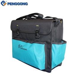 Wholesale Electrical Storage - Wholesale-Storage Tools Bag Utility Shoulder Bag Electrical Package Waterproof Oxford Canvas Multifunction Repair Tool Bag