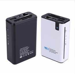 Wholesale Power Hotspot - Hot sale Wireless Card Reader USB Hub RJ45 Port 3G Hotspot WiFi Router External Power Bank 7800MAH for Any Smartphone Tablet PC Laptop