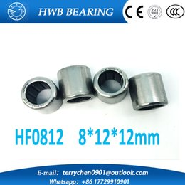 Wholesale One Way Roller Bearing - Wholesale- 10pcs HF0812 8*12*12mm drawn cup needle roller bearing one way clutch for 8mm shaft HF081212