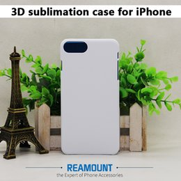 Wholesale Transparent Glue Iphone Case - 3D PC Sublimation DIY Case Heat Press Case for Iphone 6 for Iphone 6 plus Hard PC Case with Aluminium Metal Sheet with Glue