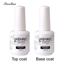 Wholesale Nail Polish Varnish Remover - Wholesale- Saroline 15ml Soak-off Gel Lacquer LED UV Gel Nail PolishVernis Top Coat Base Coat Easy Remover Long-lasting Varnish