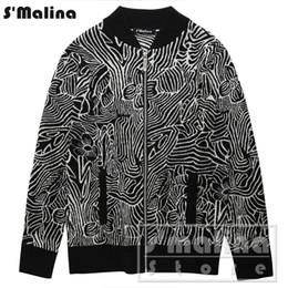 Argentina Envío gratis otoño invierno patrón geométrico jacquard cardigan suéter delgado cremallera 100% lana DS043 Suministro