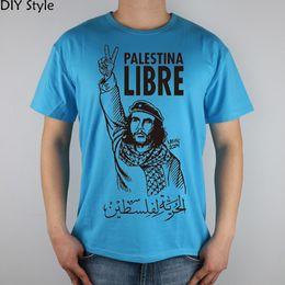 Wholesale Che Guevara Shirts - Wholesale- Liberation of Palestine Che Guevara People T-shirt Top Lycra Cotton Men T shirt