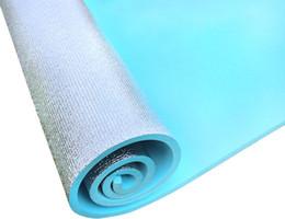 Wholesale Foam Sleep Mat - Wholesale- Outdoor Camping Sleeping Mat Pad EVA Aluminium Foam Yoga Fitness Moisture-proof Pad 180x60cm