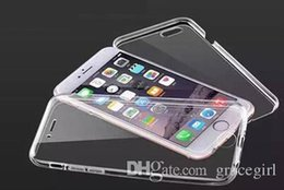 huawei p8 cubierta transparente Rebajas Para Iphone 7 Plus Samsung Galaxy A3 A5 A7 2017 J5 J7 Prime Huawei P8 P9 P9 P10 Lite Cobertura de cuerpo completo Funda de TPU suave Cubierta transparente de la piel del GEL