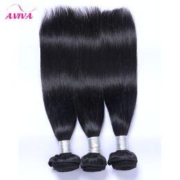 Wholesale 1b Remy Hair 12 - Brazilian Peruvian Indian Malaysian Straight Virgin Human Hair Weave Bundles 3 4 5 Pcs Lot Unprocessed 7A Grade Remy Hair Natural Black 1B#