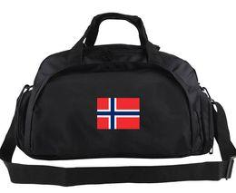Wholesale Multi Use Shoulder Bag - Norway duffel bag National team tote Norseland athlete multi use backpack Football luggage Sport shoulder duffle Outdoor sling pack