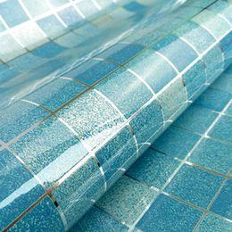 Wholesale Heat Resistant Aluminum - 2m Creative Wall Paper Mosaic Aluminum Foil Self-adhensive Anti Oil Wallpaper for Kitchen High Temperature resistant Mosaic