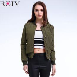 2019 giacche per le signore All'ingrosso- 2016 Winter Flight esercito giacca bomber verde donne giacca e cappotto bomber da donna sconti giacche per le signore