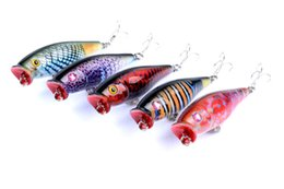 Argentina Pesca Pike Fishing Lure Popper Artificial Swimbait Wobbler Tackle Hooks 8g 75mm Atraer bagre Big Car Fake cebos supplier 8g games Suministro