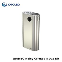 Wholesale Cricket 22 - Authentic wismec noisy cricket II D22 Box Mod wismec Mod Replaceable 18650 Cells Noisy Cricket II-22 510 Thread