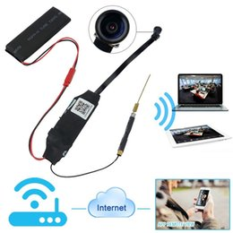 Wholesale Iphone App Video - 1080P HD Wifi Network Camera Module Hidden Video Recorder Motion Activated DV Support Android iPhone APP Remote Review 140° Wide View