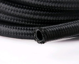 Wholesale An8 Hose - 1meter NYLON BRAID 6an an6 an-6 an8 an10 braided hose fitting transmission oil cooler kits fuel oil hose 3 meter