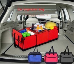 Wholesale Trunk Organiser - Car Boot Organizer Stuff Food Storage Bags trunk organiser Automobile Stowing Tidying Interior Accessories Folding Collapsible B1002-1