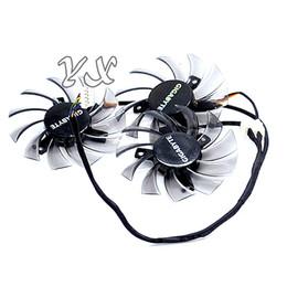 Ventilador de tarjeta de vídeo de 75 mm online-Tarjeta de video fanNew GTX460 470 570 580 670 HD5870 Tarjeta gráfica ventilador T128010SM 12V 0.20A diámetro 75mm