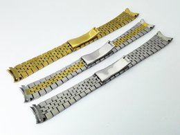 Wholesale Golden Hide - Hot sale watch band watch stainless steel solid Strip with five beads Niu Huan the Golden silver 20mm for Rolex
