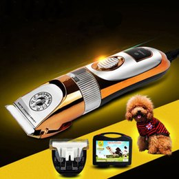 Wholesale Dog Cat Electric Clippers - Electric Animal Clipper Comb Brush Pet Dog Cat Hair Body Trimmer Shaver