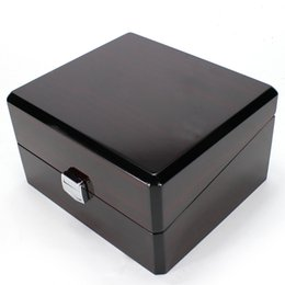 Wholesale Paint Boxes - Luxury Brand Wood Box for Watch certificate Top Gift Jewelry Bracelet Bangle Boxes Display Black Spray paint Storage Case Pillow