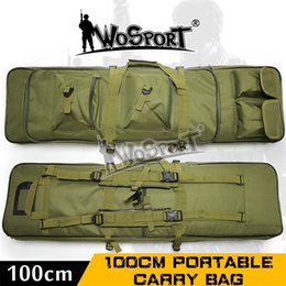Wholesale Dual Gun Carrying - WoSporT Army Backpacks 100CM Tactical Portable Carry Bag Double Pocket SWAT Dual Large Capacity Bags Rifle Airsoft Gun War Game Accessories