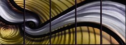 Wholesale Metal Decorative Panel - Pure Handmade Metal Wall Art Painting Home Decor Abstract Modern Sculpture Contemporary Decorative Six Panels Aluminum Artwork