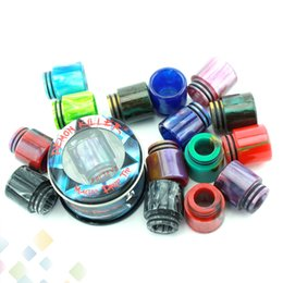 Wholesale Bear Tanks - Demon Killer Epoxy Resin Drip Tip Colorful Resin Wide Bore drip tips for TFV8 TFV12 Tank Atomizers DHL Free