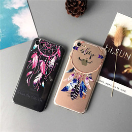 Wholesale Mobile Phone Shell Material - Mobile Shell Dream Catcher Pattern Warm Faddish Cell Phone Design For Iphone Phone Cases TPU Material Anti Dropping Cell Phone Cover