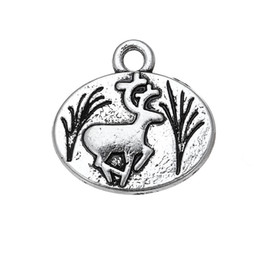Wholesale Necklace Fur - Silver Plated Lovely Decoration Deer & Fur Seal Animals Charms Zinc Alloy Pendant For Necklaces Bracelets Making