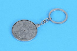 Wholesale anchor manufacturers - Manufacturers selling calendar metal key button Chinese and English creative advertising gifts compass key buckle opening