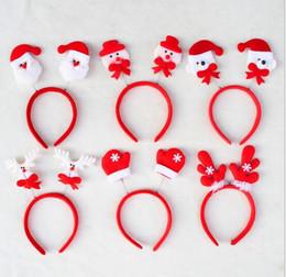 Wholesale Santa Claus Headbands - New Arrive Christmas decorations Santa Claus Fawn headband head buckle Christmas party Headwear