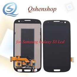 Wholesale Galaxy S3 Screen Digitizer Bluer - Original Quality AAA Grade Blue And White 4.8 Inch For Samsung Galaxy S3 Lcd Screen Display Touch Digitizer Assembly Replacement