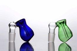ciotola di swing Sconti Carino chiodo senza quarzo blu e verde Vetro altalena braccio Miele Benne ciotola di vetro 14mm o 18mm maschio comune