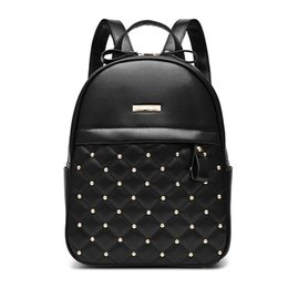 school bag teens Promo Codes - Wholesale- Women Leather Backpack Teenage Girl Teens School Bag Female Small Youth Bagpack Feminine Backbag Rucksack sac a dos femme batoh