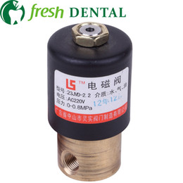 Wholesale Dental Air - 10PCS dental Air compressor solenoid valve electromagentic valve dental chair dental unit valve 220V ,0 to 0.8 MPa SL-5021