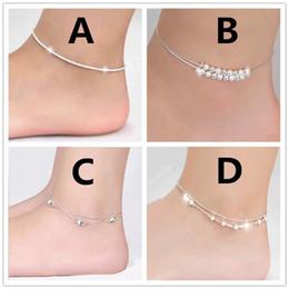 Bracelets de style nouveau style en Ligne-Nouvelle mode mixte style coréen argent plaqué étoile boule bracelet de cheville avec accessoires pour femmes fille pied bracelets bijoux