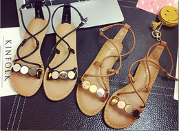 Wholesale Princess Applique Sew - In the summer of 2017 the new Roman flat with female sandals leisure beach shoes princess shoes work shoes