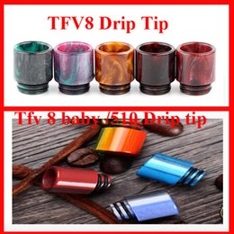 Wholesale Resin Wholesale - 2017 Hotsell TFV8 Baby Clearomizer Mouthpiece 510 Thread Epoxy Resin drip tip mouthpiecefor TFV8 baby Cloud Beast 510 Atomizer