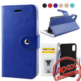Wholesale Id Wallet Window - For iphone 8 Wallet Leather Case with Card Money Slots Multi-functional ID Window Shockproof PC Cover for iphone 7 6S plus