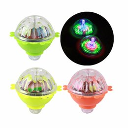 Wholesale Spinning Glow Toys - Kids Toys LED Gyro Light Glow Gyro Toys Friction Tops Spinning Tops of Children Kid Toys Gift