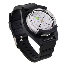 Wholesale Survival Straps Bracelets - NEW Tactical Wrist Compasses Military Outdoor Survival Strap Band Bracelet free shipping